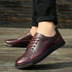MARTUCCI - Genuine-Leather Brogue Oxfords