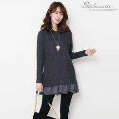 Stylementor - Frilled Chiffon-Layered Tunic