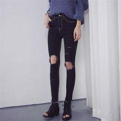 Kojasmine - Distressed Skinny Jeans