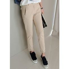 J-ANN - Pocket-Front Tapered Pants