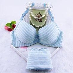 Remedios - Set: Striped Bra + Panties