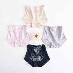 LA SHOP - Lace High-Waist Shaping Panties
