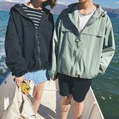 JUN.LEE - Couple Matching Hooded Jacket
