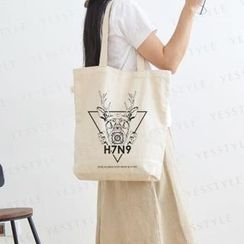 Aoba - Deer Printed Shopper Bag