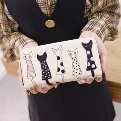 Rinka Doll - Cat Print Long Wallet
