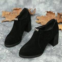 IYATO - 粗跟踝靴
