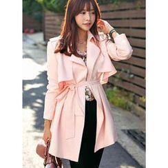 HOTPING - Flap-Front Trench Coat