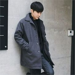 MITOSHOP - Raglan-Sleeve Single-Breasted Coat