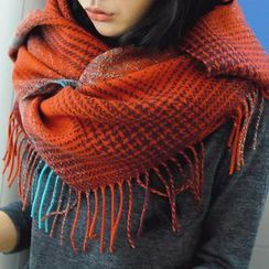 REDOPIN - Fringed Check Scarf