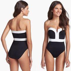 MATIN - Color-Block Swimsuit