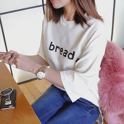 Seoul Fashion - 3/4-Sleeve Printed T-Shirt