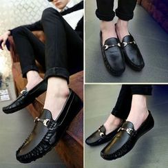 Hipsteria - Faux-Leather Loafers