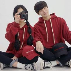 Seoul Homme - Couple Hooded Colored Pullover