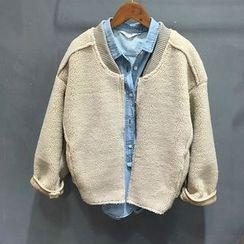YENSI - Fleece Bomber Jacket