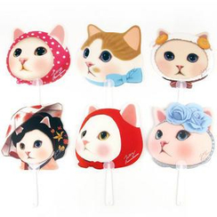 Full House - Jetoy - Cat-Print Hand Fan
