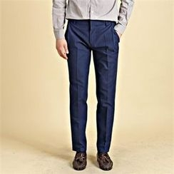 THE COVER - Flat-Front Tapered Pants