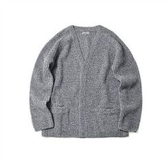 THE COVER - V-Neck Rib-Knit Cardigan