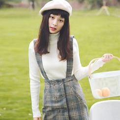 MOJIN - Plaid Jumper Skirt