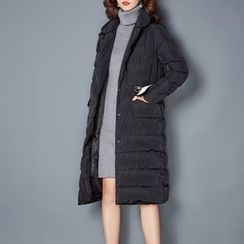 NINETTE - Pocket-Accent Buttoned Padded Coat