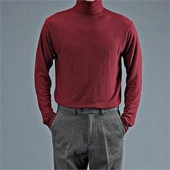 THE COVER - Turtle-Neck Plain Top