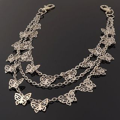 Trend Cool - Butterfly Segment Layered Necklace