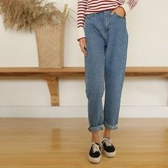 AiAi Bear - Cropped Wide Leg Jeans