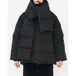 Someday, if - Duck-Down Padded Jacket with Scarf
