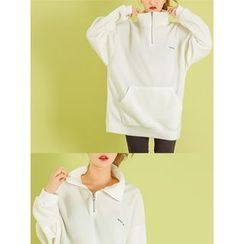 LOLOten - Mock-Neck Polar-Fleece Anorak Pullover