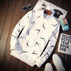 T for TOP - Long-Sleeve Printed Top