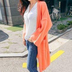 Seoul Fashion - Open-Knit Long Cardigan