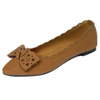 yeswalker - Perforated Bow-Accent Flats
