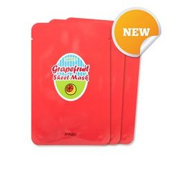 A'PIEU - Grapefruit & Sparking Sheet Mask 3pcs