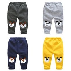 WellKids - Kids Applique Fleece-Lined Pants