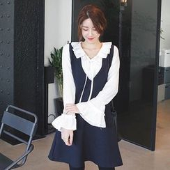 mimi&didi - Sleeveless Pocket-Detail A-Line Dress