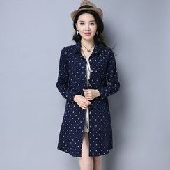 Hazie - Polka Dot Long Shirt