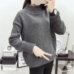 Bloombloom - Mock Neck Melange Sweater