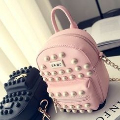 Secret Garden - Studded Faux Leather Backpack