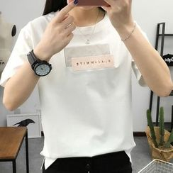 Ukiyo - Letter Short-Sleeve T-shirt