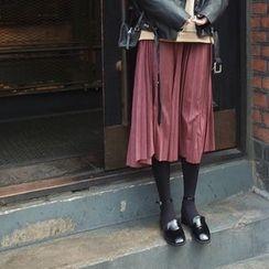 mimi&didi - Pleated Long Skirt