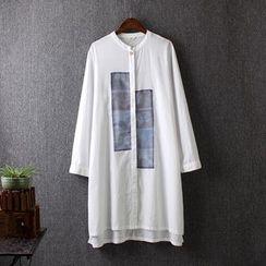 Blue Rose - Color Block Long Shirt