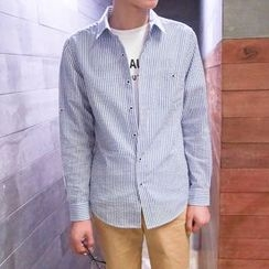 SICRIT - Pinstripe Long-Sleeve Shirt