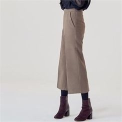 MAGJAY - Wool Blend Wide-Leg Cropped Pants