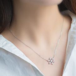 A'ROCH - 925 Sterling Silver Snowflake Necklace