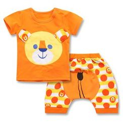 Madou - Set: Applique T-Shirt + Pants
