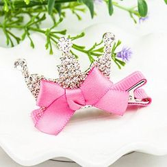 Cheermo - Kids Rhinestone Crown Hair Clip