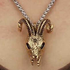 Andante - Metal Skull Necklace