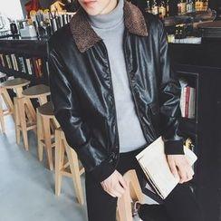 JUN.LEE - Faux Leather Jacket