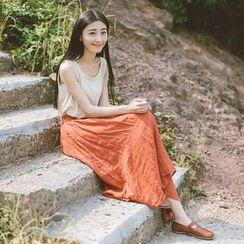 兰芝 - 纯色长裙