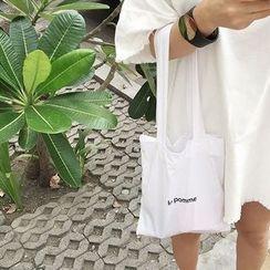 Eastin - Lettering Zipped Shopper Bag