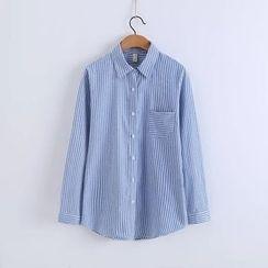 Tangi - Striped Long-Sleeve Shirt